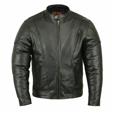 Men's Vented Motorcycle Jacket w/ Plain Sides - DS779 Men's Jackets Virginia City Motorcycle Company Apparel