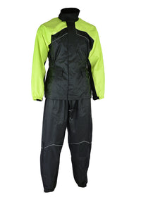 DS592HV Rain Suit (Hi-Viz Yellow) Rain Suits Virginia City Motorcycle Company Apparel