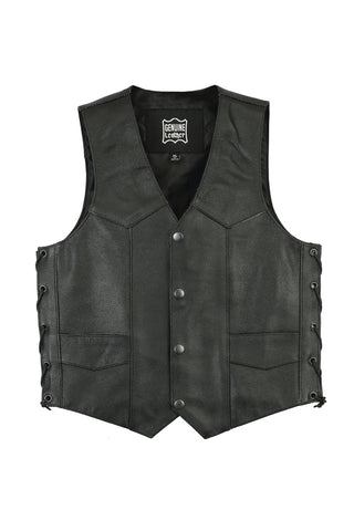 Daniel Smart - Kids Traditional Lace Side Leather Vest - DS1726 Kid's Leather Virginia City Motorcycle Company Apparel