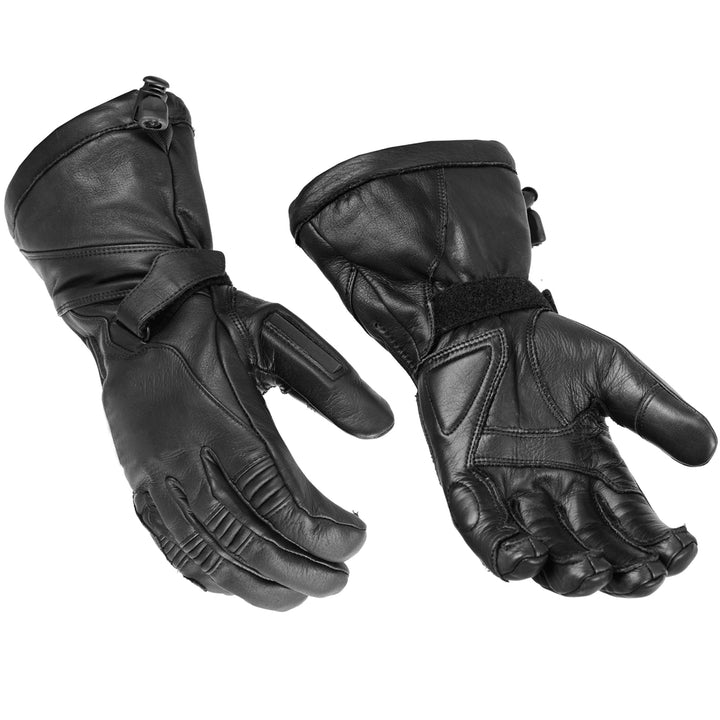DS28  High Performance Deer Skin Insulated Cruiser Glove Men's Gauntlet Gloves Virginia City Motorcycle Company Apparel
