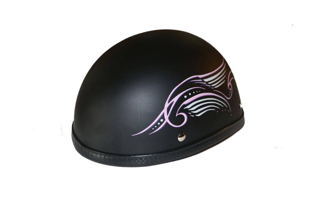 Novelty Eagle Pink Tribal Wings/Flat Black- Non-DOT - H31PK Eagle Novelty Virginia City Motorcycle Company Apparel