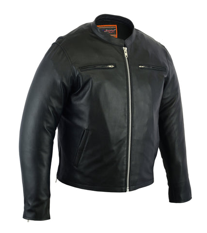 Daniel Smart - Men's Sporty Cruiser Jacket - DS714 Men's Jackets Virginia City Motorcycle Company Apparel