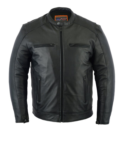 Men's Cruiser Blacked-Out Motors Jacket - DS735 Men's Jackets Virginia City Motorcycle Company Apparel