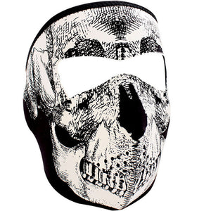 ZAN® Full Mask - Neoprene - B&W Skull Face - WNFM002 Full Facemasks Virginia City Motorcycle Company Apparel
