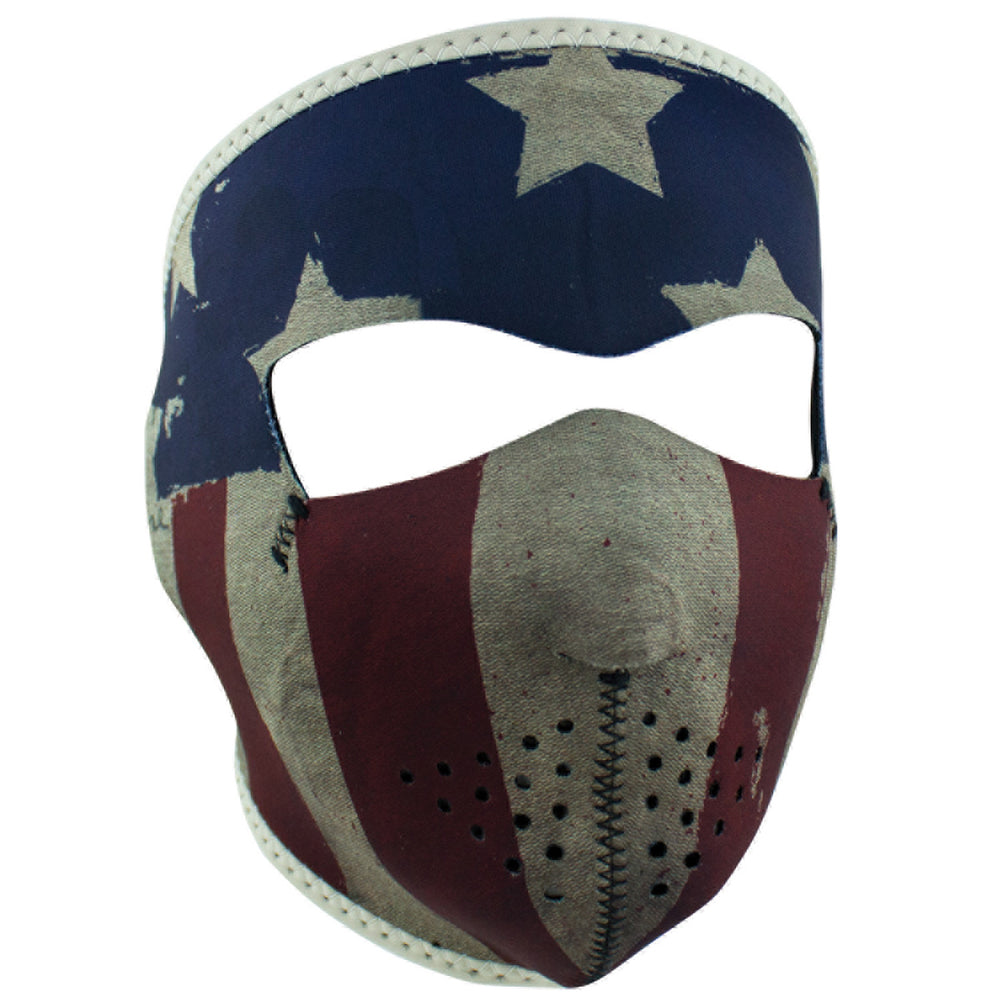 ZAN® Full Mask- Neoprene- Patriot - WNFM408 Full Facemasks Virginia City Motorcycle Company Apparel