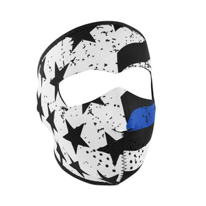 WNFM119 ZAN® Full Mask- Neoprene- Thin Blue Line Full Facemasks Virginia City Motorcycle Company Apparel