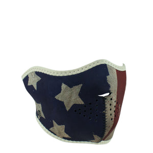 ZAN® Half Mask- Neoprene- Patriot - WNFM408H Half Facemasks Virginia City Motorcycle Company Apparel