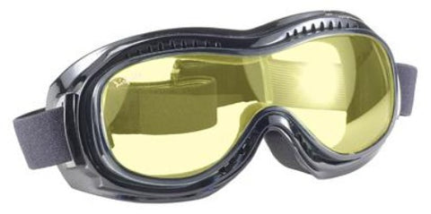 Airfoil Goggle- Yellow Lens - 9312 Goggles Virginia City Motorcycle Company Apparel