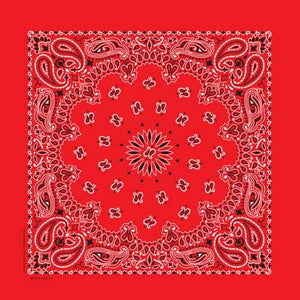 Bandana Paisley Red - BD2500 Bandanas Virginia City Motorcycle Company Apparel