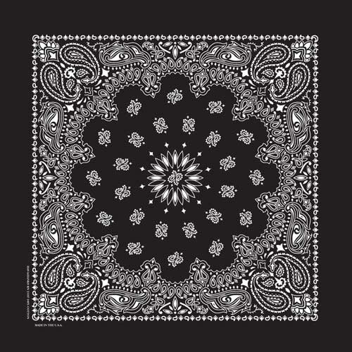 Bandana Paisley Black - BD2503 Bandanas Virginia City Motorcycle Company Apparel