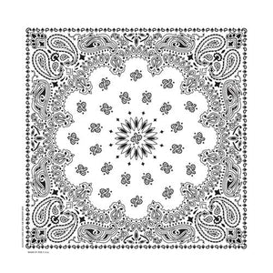 BD2504 Bandana Paisley White Bandanas Virginia City Motorcycle Company Apparel