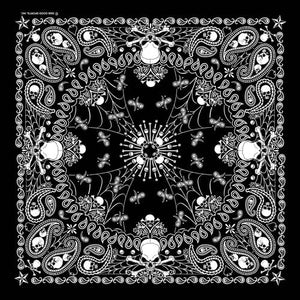 Bandana Paisley Skeletal GS - BD2514 Bandanas Virginia City Motorcycle Company Apparel