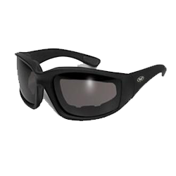 Kickback 24 Foam Padded Motorcycle Sunglasses w/ Clear Lenses - 24KickbackCL Photochromatic Glasses Virginia City Motorcycle Company Apparel