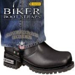 BBS/AB6 Weather Proof- Boot Straps- American Biker- 6 Inch Biker Boot Straps Virginia City Motorcycle Company Apparel