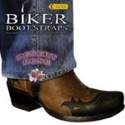 BBS/DR4 Weather Proof- Boot Straps- Desert Rose- 4 Inch Biker Boot Straps Virginia City Motorcycle Company Apparel