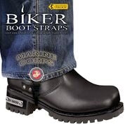 BBS/MR6 Weather Proof- Boot Straps- Marine Corps- 6 Inch Biker Boot Straps Virginia City Motorcycle Company Apparel