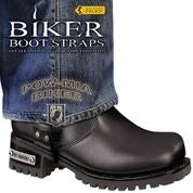 Biker Boot Straps- POW MIA- 6 Inch - BBS/PW6 Biker Boot Straps Virginia City Motorcycle Company Apparel
