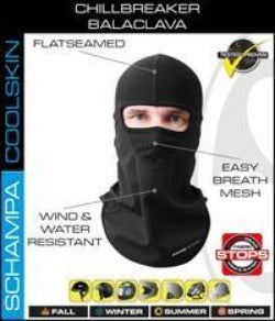 Chill Breaker Balaclava- Stitching Color- Black - BLCLV015D-0 Head/Neck/Sleeve Gear Virginia City Motorcycle Company Apparel