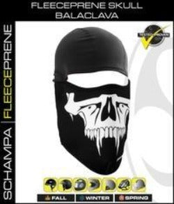 Balaclava - Fleeceprene Skull Balaclava - BLCLV100 Head/Neck/Sleeve Gear Virginia City Motorcycle Company Apparel