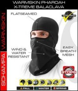 Pharaoh Deluxe II Balaclava- StormGear Botton- WarmSkin Top - BLCLV001 Head/Neck/Sleeve Gear Virginia City Motorcycle Company Apparel