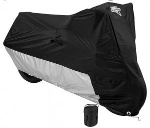 MC-904 Bike Cover- Black/Silver Bike Covers Virginia City Motorcycle Company Apparel
