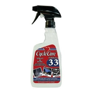 Formula 33- Dry Motorcycle Detailer & Bug Remover- 22oz - 33022 Bike Cleaners Virginia City Motorcycle Company Apparel