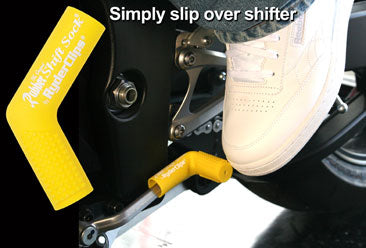 RSS-YELLOW Rubber Shift Sock- Yellow Lever Covers & Floor Boards Virginia City Motorcycle Company Apparel
