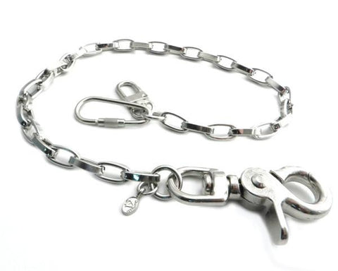 "NC130-18 Modern Chrome Wallet Chain 16"" Wallet Chains/Key Leash Virginia City Motorcycle Company Apparel"