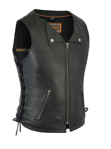 Daniel Smart - Women's Fashionable Lightweight Leather Vest - DS280 Women's Leather Vests Virginia City Motorcycle Company Apparel