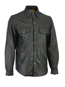 DS770 Men's Premium Lightweight Leather Shirt Men's Jackets Virginia City Motorcycle Company Apparel
