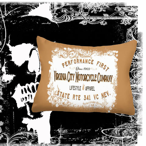 Performance First Motorcycle Pillow pillow Virginia City Motorcycle Company Apparel