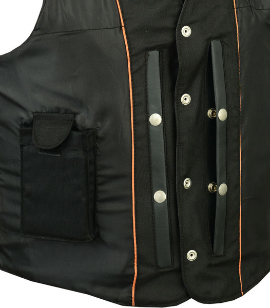Daniel Smart - Men's Traditional Single Back Panel Concealed Carry Vest - DS111 Men's Vests Virginia City Motorcycle Company Apparel