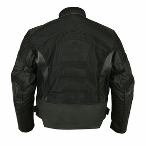 Men's Mesh/ Leather Padded Jacket - DS750BK Men's Jackets Virginia City Motorcycle Company Apparel