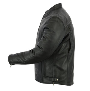 Men's No Collar Conceal Carry Motorcycle Jacket - DS718 Men's Jackets Virginia City Motorcycle Company Apparel