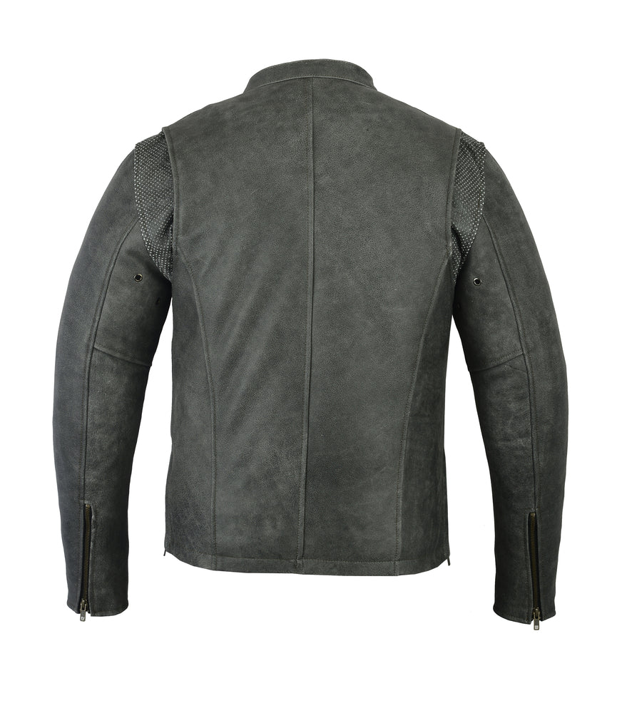 Daniel Smart - Men's Sporty Cruiser Jacket (GRAY) - DS709 Men's Jackets Virginia City Motorcycle Company Apparel