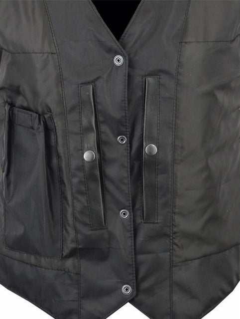 New Catch - Men's Button-Down Conceal-Carry Leather Vest - DS254 Men's Vest Virginia City Motorcycle Company Apparel