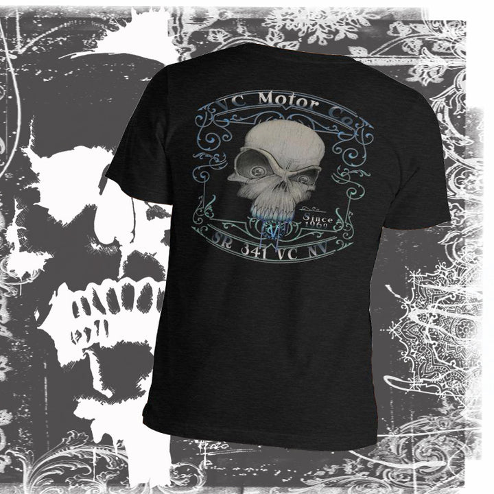 """Toxic"" -  Men's Short-Sleeve Skull T-Shirt Men's T-Shirt Virginia City Motorcycle Company Apparel"