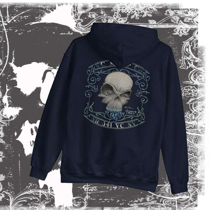 """Toxic""  Men's and Ladies Skull Hoodie Hoodie Virginia City Motorcycle Company Apparel"