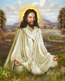 Christ Meditating in a meadow photo prints
