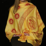 Indian Om Shawl - Yellow