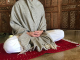 Supreme Swan Wool Asana Meditation Mat and Meditation Shawl in a variety of colors and designs.