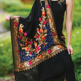 Kashika Embroidered Wool Shawl