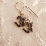 marcasite om earrings