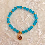 Swarovski Crystal Bracelet with Guru Charm - Blue