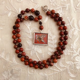 Ashwa, Red Flame Jasper Necklace