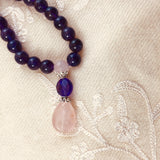 Amethyst & Rose Quartz Kriya Mala Prayer Beads