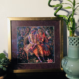 Radha & Krishna Gold Framed Artwork