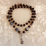 Kaveri Black Onyx and Botswana Agate Necklace