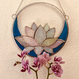 White Lotus Stained Glass