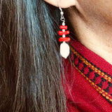 Rupa Red Coral Earrings